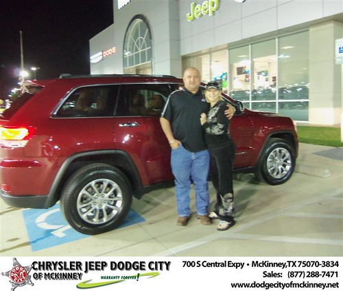 Dodge City of McKinney would like to say Congratulations to Kenneth Locke on the 2014 Jeep Grand Cherokee by Dodge City McKinney Texas