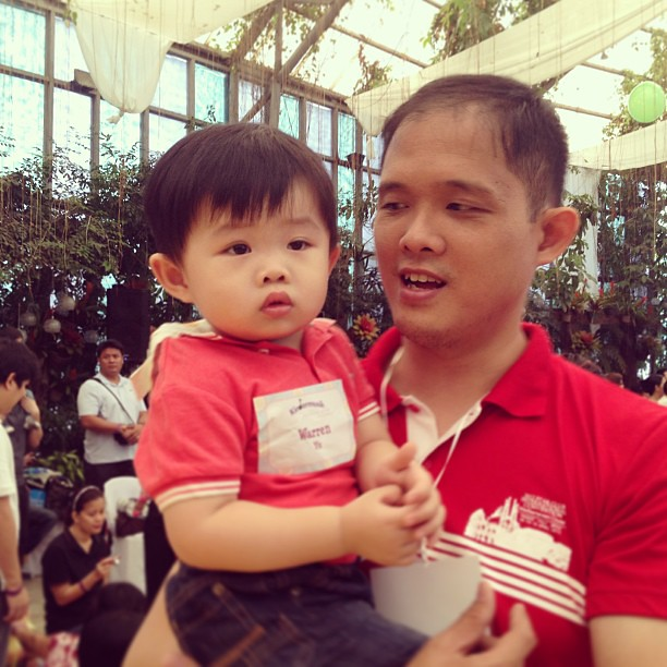 Warren and daddy at Kindermusik Festival #milestone #warren #kindermusik