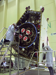 Mercury Transfer Module with integrated ion thrusters