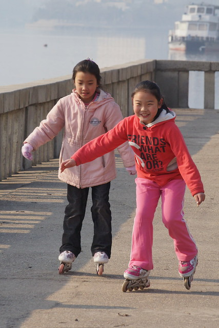 Rollerblading in Pyongyang, North Korea