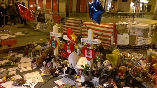 Memorial at Berkley Street and Boylston Street