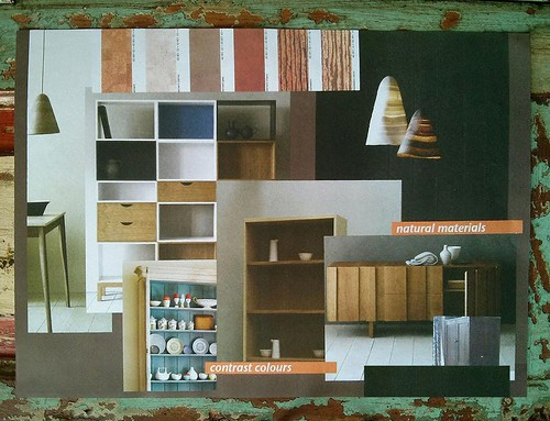 Colours materials moodboard by amoespaco