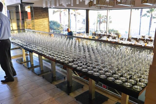 wine glass setup