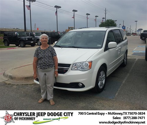 Dodge City of McKinney would like to say Congratulations to Loyce Gallegos on the 2013 Dodge Grand Caravan by Dodge City McKinney Texas