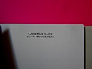 Vincenzo Latromico, Armin Linke, Narciso nelle colonie. Quodlibet Humboldt 2013. Progetto grafico di Pupilla Graphic. Pagine dell'occhiello (part.)