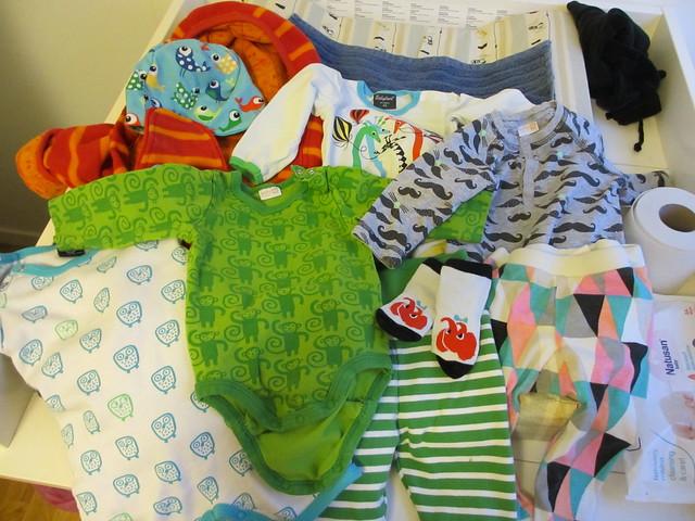 Axplock av kläder, Sander 6 månader