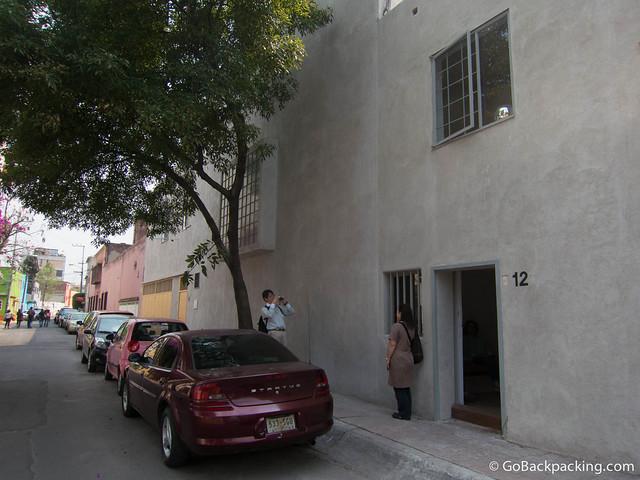 Entrance to Casa Luis Barragan