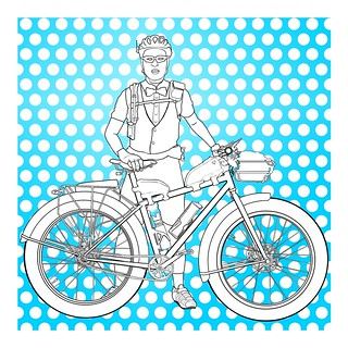 Kevin the Pedal-Powered Hero (Polkadot Blue)