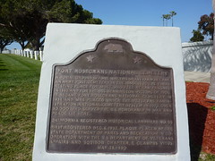California Historical Landmark plaque at Fort Rosecrans National Cemetery by jawajames