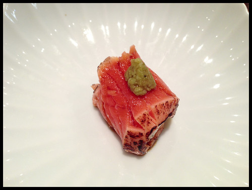 Seared Smoked King Salmon w/ Whipped Cream Cheese
