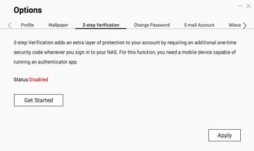 จากนั้น ตรง 2-step verification เลือก Get Started