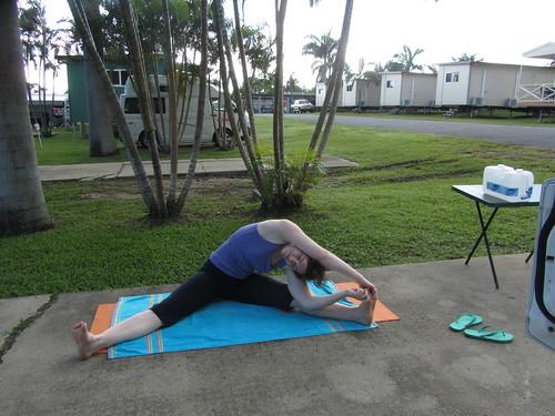 campsite yoga