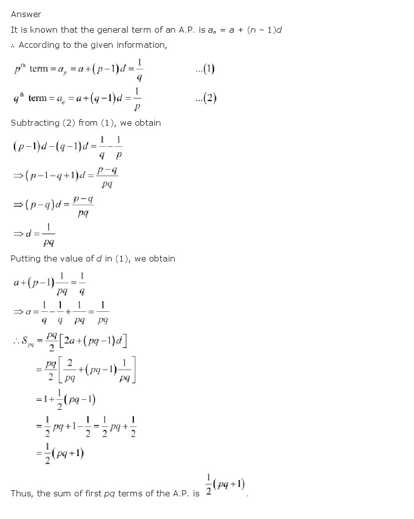 medium resolution of NCERT Solutions for Class 11th Maths Chapter 9 Sequences and Series - CBSE  Rankers