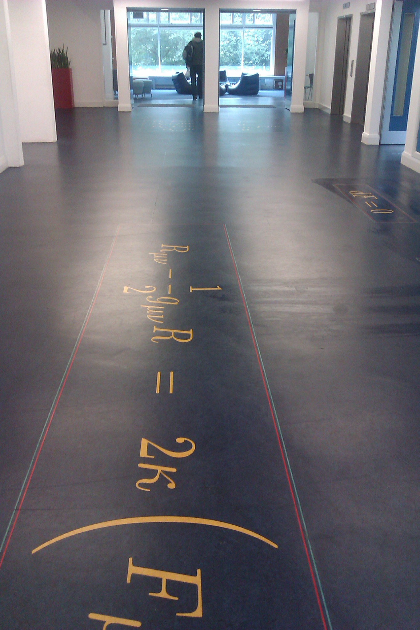 Maxwells equations floor of the JCMB University of