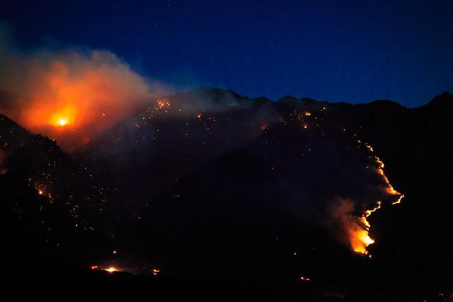 Alpine Quail Fire (Utah) at Night