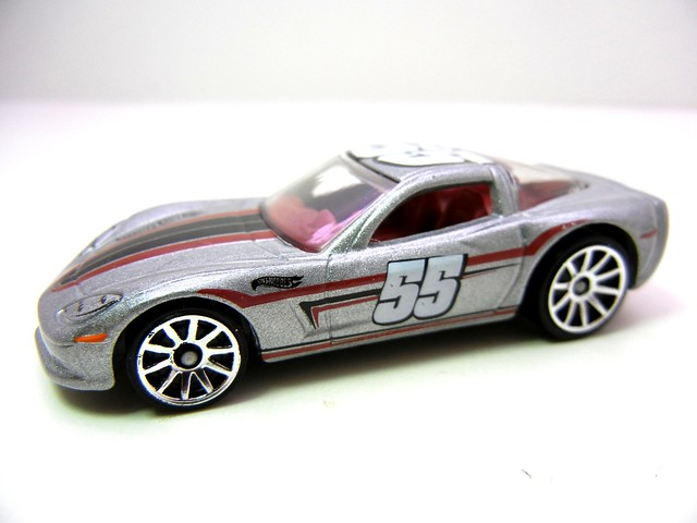 hot wheels '96 corvette silver (2)