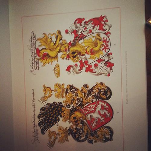 Inside Heraldic designs
