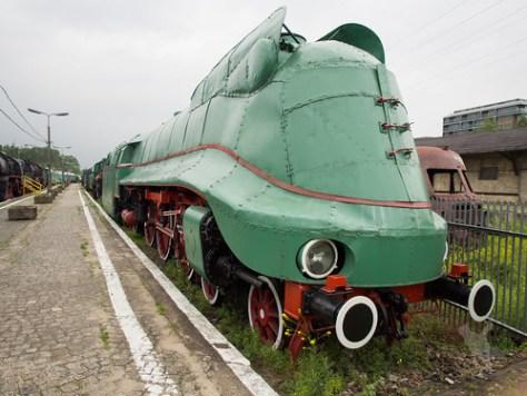 静態保存された機関車