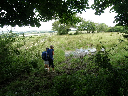 A and B inspect Hadrian's ditch