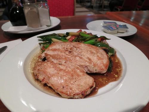 Grilled chicken, stir fried vegetables