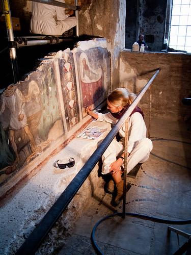 ROMA ARCHEOLOGIA: Il Foro Romano / Santa Maria Antiqua - Il progetto di documentazione e restauro. Foto: Stephen Hoang  (06/2012). by Martin G. Conde