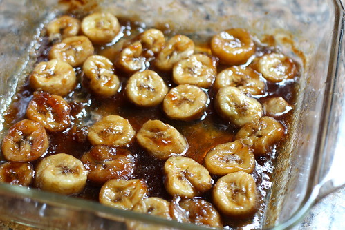 roasted, caramelized bananas