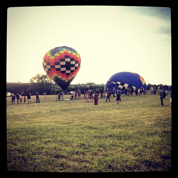 Balloons are inflating!