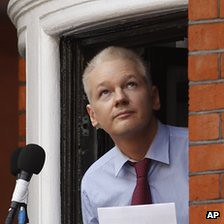 bbc co uk Julian Assange at Ecudorean embassy