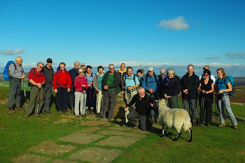 20111016-39_Midland Hill Walkers + Sheep on Lose Hill by gary.hadden
