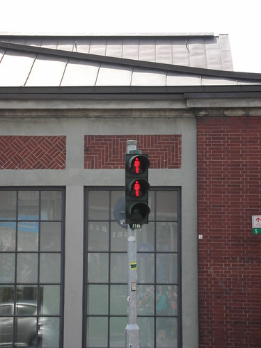 A Pedestrian Traffic Light in Hamburg, Germany