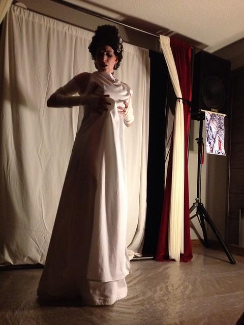 I forgot I took some photos of the Bride of Frankenstein at the beginning of her burlesque dance #cvg2012