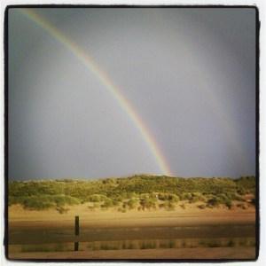 Loop eens elders #regenboog