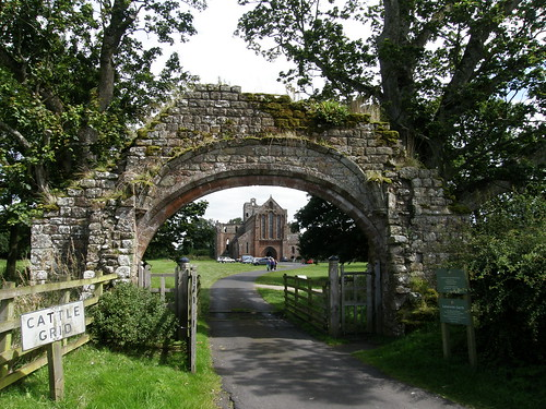 The Priory seen through the old gateway