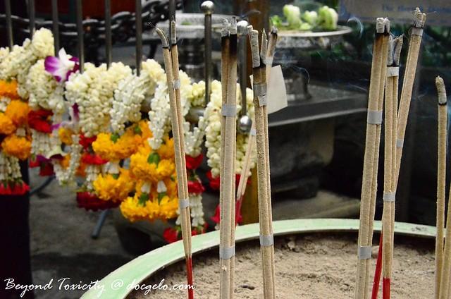 josticks and flowers