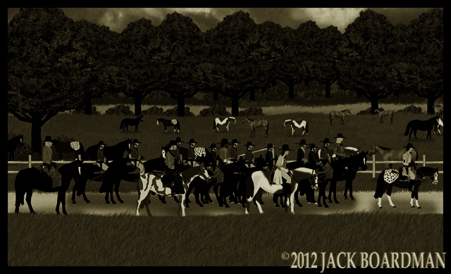 Prisoners led away from the Triple Bar X Ranch ©2012 Jack Boardman
