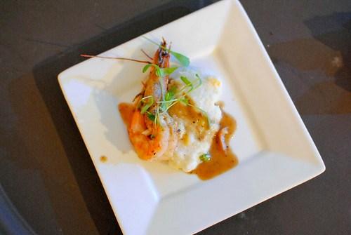 Rick Tramonto (R'evolution) BBQ shrimp and grits