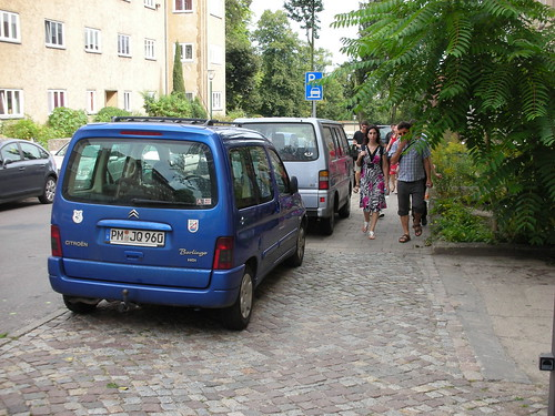 Potsdam has given its sidewalks over to the cars