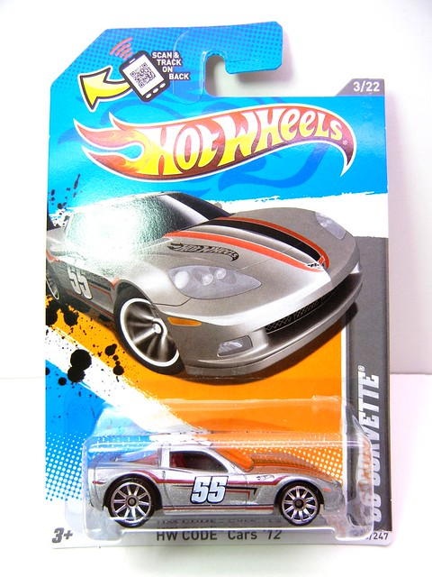 hot wheels '96 corvette silver (1)
