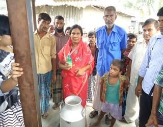 Village milk collector in Bangladesh