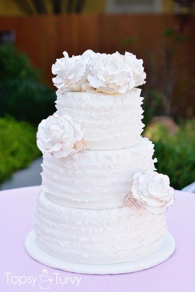 Ruffled Rose Wedding Cake Paint Your Flower Edges