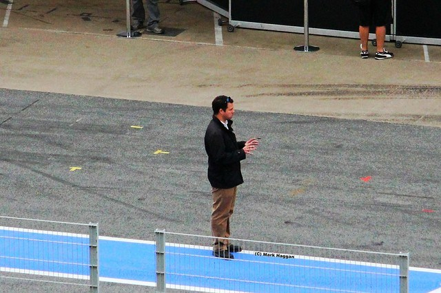 Ted Kravitz in the pit lane at Formula One Winter Testing, Circuit de Catalunya, March 2012