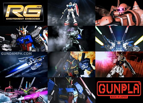 Ten Regular RG Gundam Kits So Far  August 2012  Screen Cap  Promo Vid