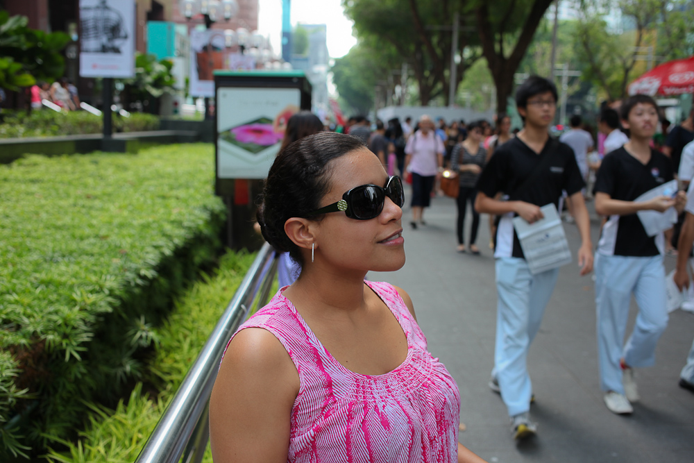 Orchard Road People Watching