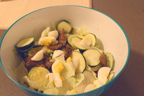 Caramelized Onion Steak Salad