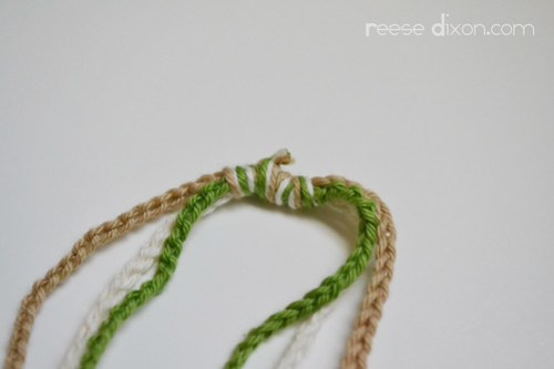 Crocheted Necklace Tutorial Step 7