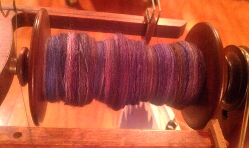 Tour de Fleece day 19 spinning by Miss Knotty
