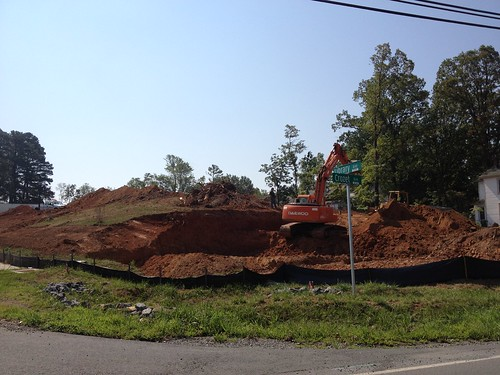 Crozet Library moving dirt!