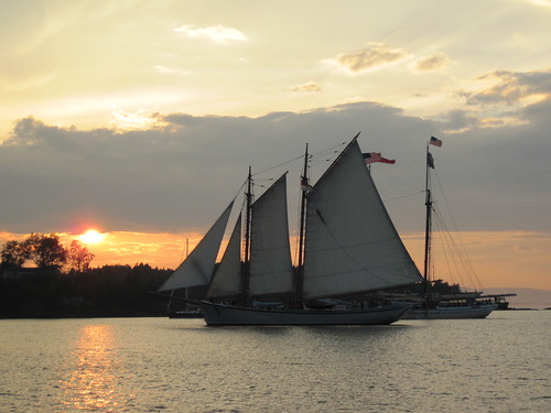 Schooner sunset