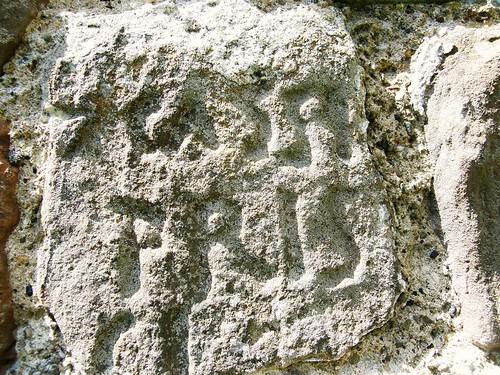 Roman inscription incorporated into Priory