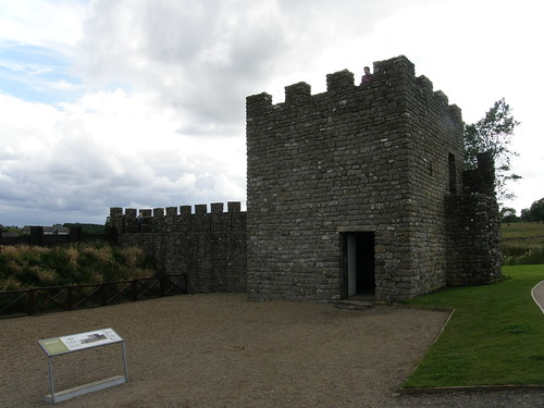 Replica turret and stone wall